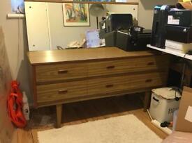 Mid century vintage dresser cabinet