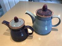 Denby Storm Large & Dmall Teapots and Milk Jug