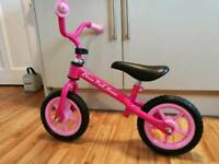 Chicco balance bike, pink