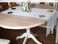 Shabby chic extendable table mint