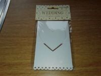 120 Wedding Place Cards - Pearl White Heart from Sass & Belle