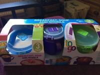 Sistema 'to go' set 3 breakfast, soup,noodle bowls, new