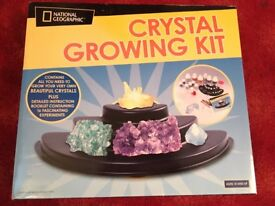 Crystal growing kit by national geopraphic