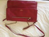 Knomo Elektronista red leather bag