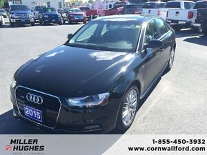 2015 Audi A4 Premium, Leather, Sunroof, AWD