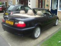 2003 BMW 318ci CONVERTIBLE, FOR REPAIRS, ENGINE PROBLEM.