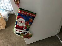 Childrens quilted novelty christmas stockings