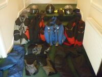 Motorcycle clothing job lot (worth £1000 when new) used but serviceable