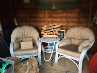 Bamboo chairs and table garden furniture