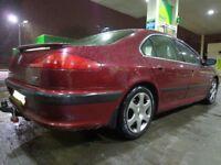 AUTOMATIC RARE 2003 top spec peugeot 607 2.2 hdi diesel with towbar+mot may 2018+tax+satnav+leathers