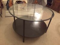 Ikea glass coffee table good condition