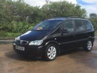 2005 Vauxhall Zafira 2.0 DTi Breeze Gleaming Black 7 Seater Turbo Diesel Mot'd Very easy on Diesel,