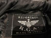 reportage leather bomber jacket