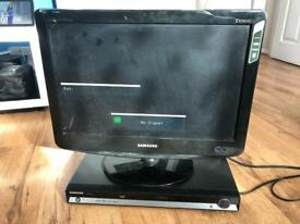 """Samsung HD 20"""" LCD TV and DVD Player"""