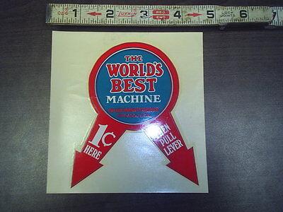 worlds best machine water release stock #