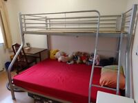 Triple Silver Metal Bunkbed for sale