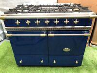 Stunning Lacanche Cluny Range cooker Blue and brass kitchen appliance INC VAT