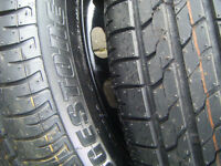 TWO , 175 X 65 X 14 , BRAND NEW BRIDGESTONE TYRES,NEVER USED BOTH HAVE COLOURED BANDS STILL ON THEM