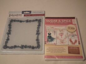 """Crafter's Companion Sugar & Spice CD & 6"""" Daisy Chain embossing folder - both brand new & sealed"""