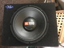 12 inch jbl subwoofer in solid box - 1000 watts