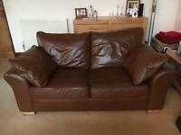 Open to Offers Next large leather sofa bed