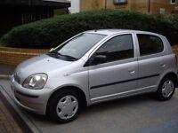2001 Toyota Yaris Grey 1.3, 5-doors, LOW MILEAGE, MOT just passed, full service history