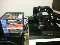 Sony ps4 500gb 9 games 2 pads