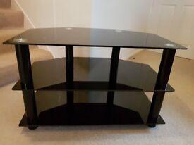 Smoked Black Glass 3 Tier TV Stand