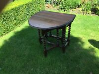 Oak dining table four chairs