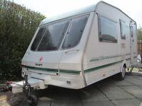 Swift 1998 4 berth touring caravan + Awning