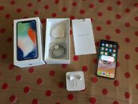 Apple iPhone X 64GB White Silver LIKE NEW Boxed with accessories and Warranty - EE VIRGIN BT MOBILE