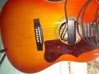 Epiphone EJ-45 Acoustic Guitar with Pickup and Stand