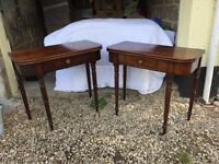Antique pair of William 1V card and tea tables. (Etargere now sold)