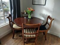 Lovely Vintage Dining Table and Chairs x 4