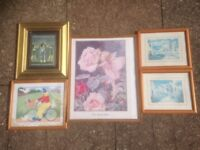 Picture frames x 5