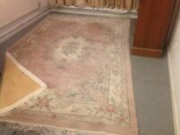 Large 100% Wool Floral Rug Chinese Rug Persian Carpet Thick Deep Pile Size 270cm x 180cm VGC