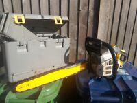 Chainsaw RYOBI 44CC with handbook and case .