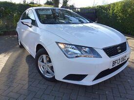 2013 SEAT LEON S TDI WHITE 5 DOOR HATCHBACK £0 TAX FREE CHEAP ROAD TAX DIESEL