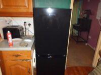 Black Russell Hobbs fridge freezer