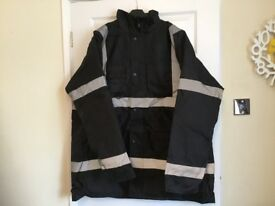 Black hi vis jacket