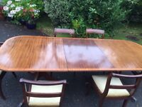Antique Oak Dining Table & 6 Chairs 2400mm x 1060mm