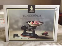 Brand new in box, traditional kitchen craft natural elements balance scales
