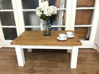 Solid wood coffee table Free Delivery Ldn Shabby Chic rustic