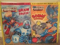 Set of 10 first reader books DC Super friends