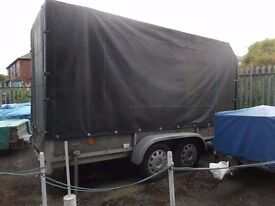2 Ton Twin axle traier with high canopy