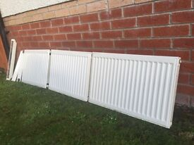 3 White Radiators