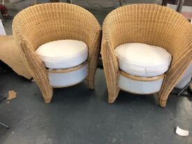 2 wicker chairs for conservatory
