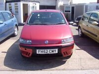 2002 FIAT PUNTO ACTIVE 3 DOOR HATCHBACK 1242CC LOW MILEAGE FOR YEAR 98K MOT JAN 2017 SERVICE HISTORY