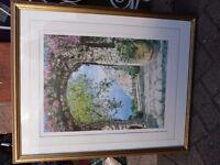 Veronica Charlesworth signed Limited Edition Print. Golfo Di Salerno. 445/475