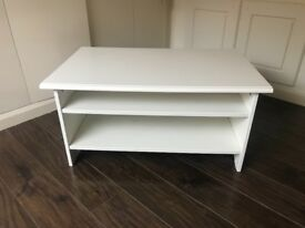 Ivory white tv stand/ coffee table